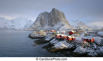 Hamnoy village on Lofoten Islands, Norway - Famous iconic ...