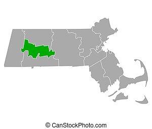 hampshire, mappa, massachusetts