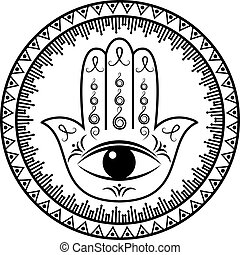 hamsa, 或者, fatima 的手