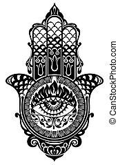 Hamsa hand - Decorative hamsa illustration
