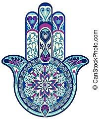 Hamsa hand - Decorative vector hand