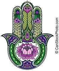Hamsa hand - Lucky religion symbol