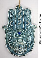 hamsa hand - hams hand on isolated background