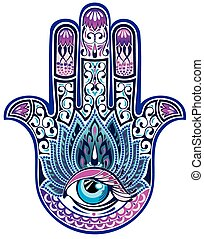 Hamsa hand - Vector symbol