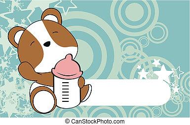 B b hamster illustration dessin anim mignon peu - Hamster dessin anime ...
