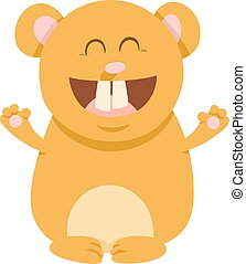 hamster cartoon animal character
