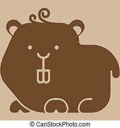 Hamster icon - stylized art zoo icons