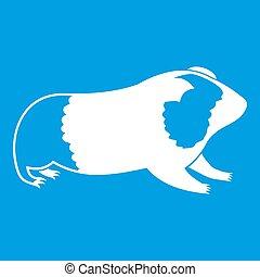 Hamster icon white