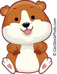 Hamster Illustration - Illustration of a Cute Hamster...