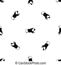 Hamster pattern seamless black
