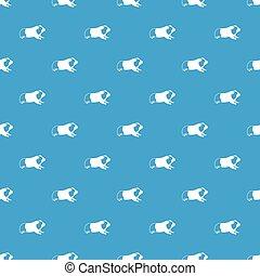 Hamster pattern seamless blue