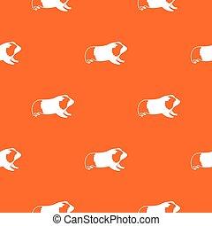 Hamster pattern seamless