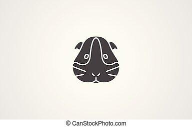 Hamster vector icon sign symbol