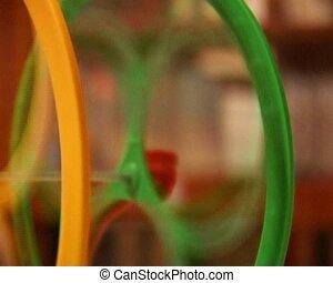 hamster wheel - close-up rotating hamster wheel