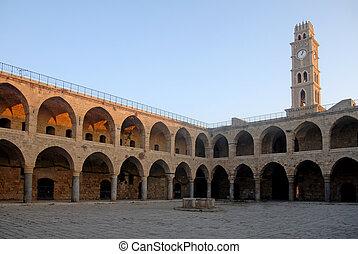 Han El-Umdan Akko Israel - Ottoman landmark building - Han...