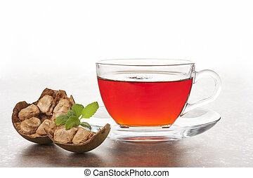 han, guo, mönch, fruechte, tea., aka, luo