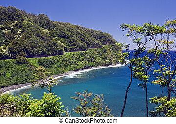 Hana Highway - The Hana Highway clings to the coast as it...