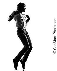 hanche, danse, danseur, houblon, frousse, homme