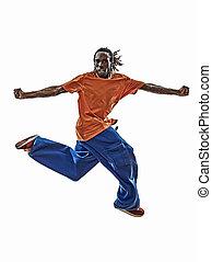 hanche, danseur, jeune, Sauter, coupure,  SI,  Breakdancing, houblon, acrobatique, homme
