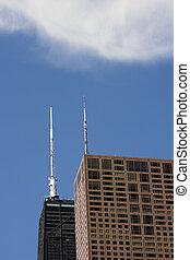 Hancock Building under amazing clouds -  Chicago, IL.