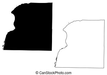 Hancock County, Illinois (U.S. county, United States of America, USA, U.S., US) map vector illustration, scribble sketch Hancock map
