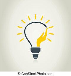 Hand a bulb