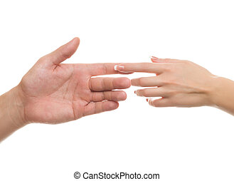 hand, a gentle touch of the hands