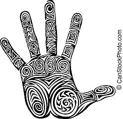 Hand Abstract Design Pattern Concept