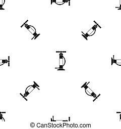Hand air pump pattern seamless black