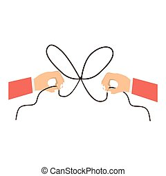 Hand and bowtie rope design