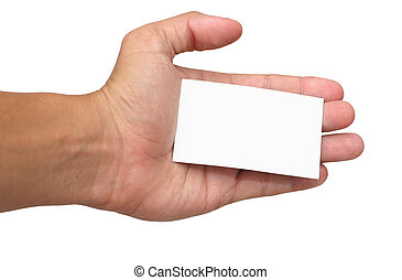 Hand and Card