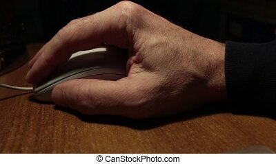 Hand and computer mouse