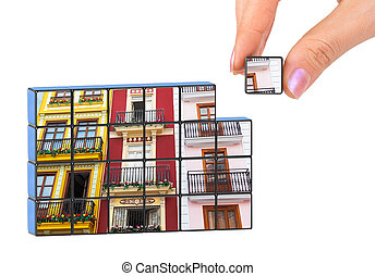 Hand and construction architecture (my photo) puzzle