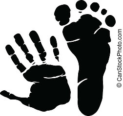 Hand and footprint graphic