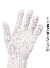 gesture - hand and glove, gesture close up shot