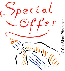 special offer - hand and pen writing special offer