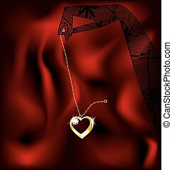 hand and pendant heart