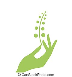 Hand and plant eco.