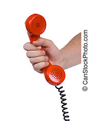 Hand and telephone receiver