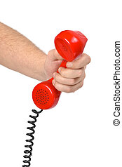 Hand and telephone