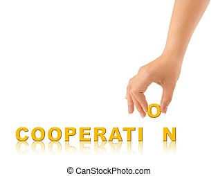 Hand and word Cooperation