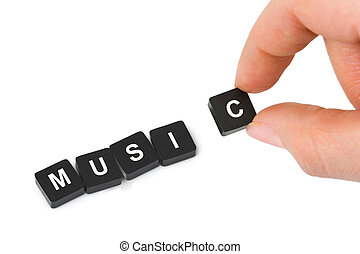 Hand and word Music