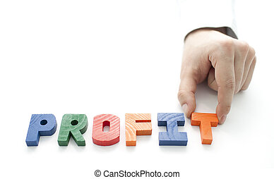 Hand and word Profit
