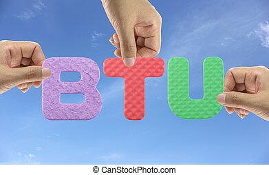 Hand arrange alphabet BTU. - Hand arrange alphabet BTU of...