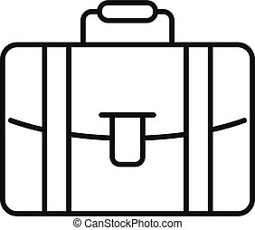 Hand bag icon, outline style