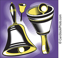 Hand Bells - Clip art set of hand bell instruments