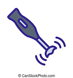 hand blender icon vector outline illustration