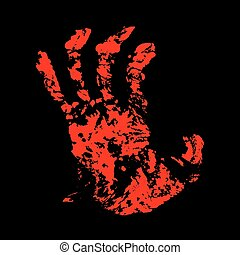 Hand Bloody