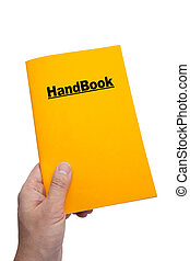 Hand Book with white background