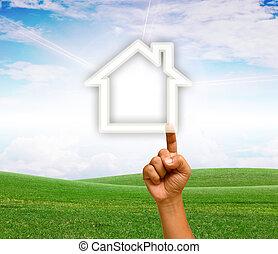 Hand-built home.